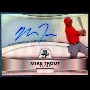 Mike Trout Autographed Refractor RP Card